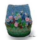 схема вязания дна сумки крючком из атласных лент - Журнал по вышивке.